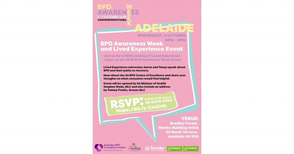 Opening Event – BPD Awareness Week 2018