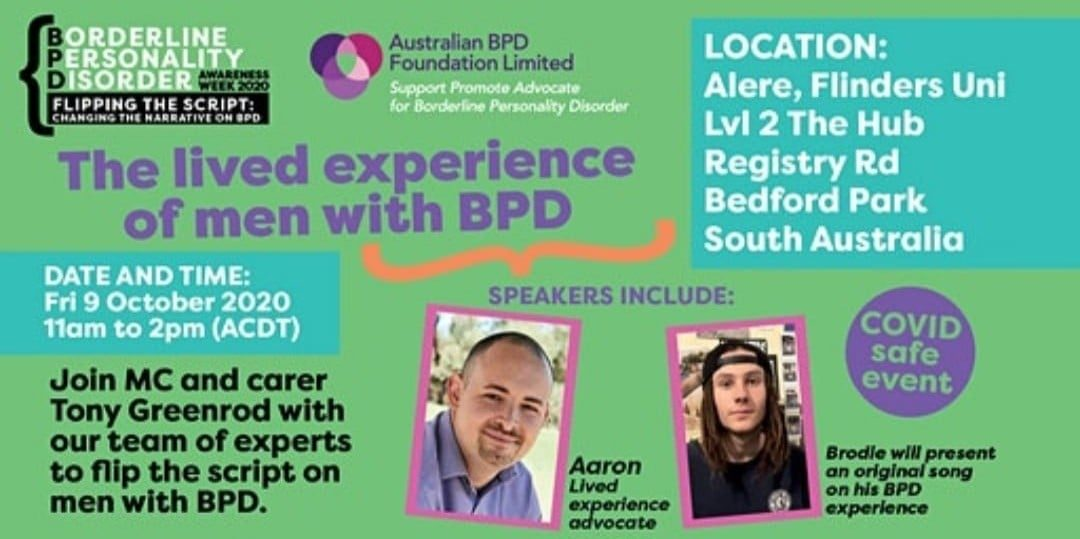 The Lived Experience of Men with BPD – Recording
