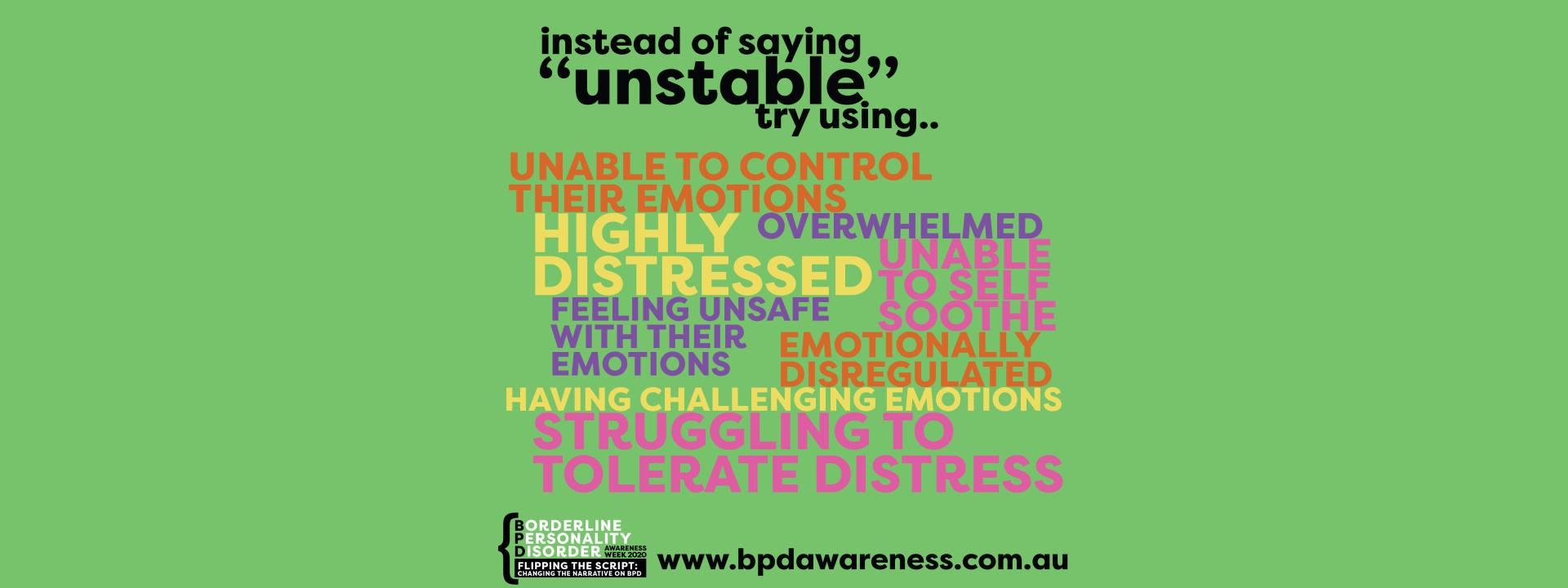 BPD Awareness Week - Not Unstable