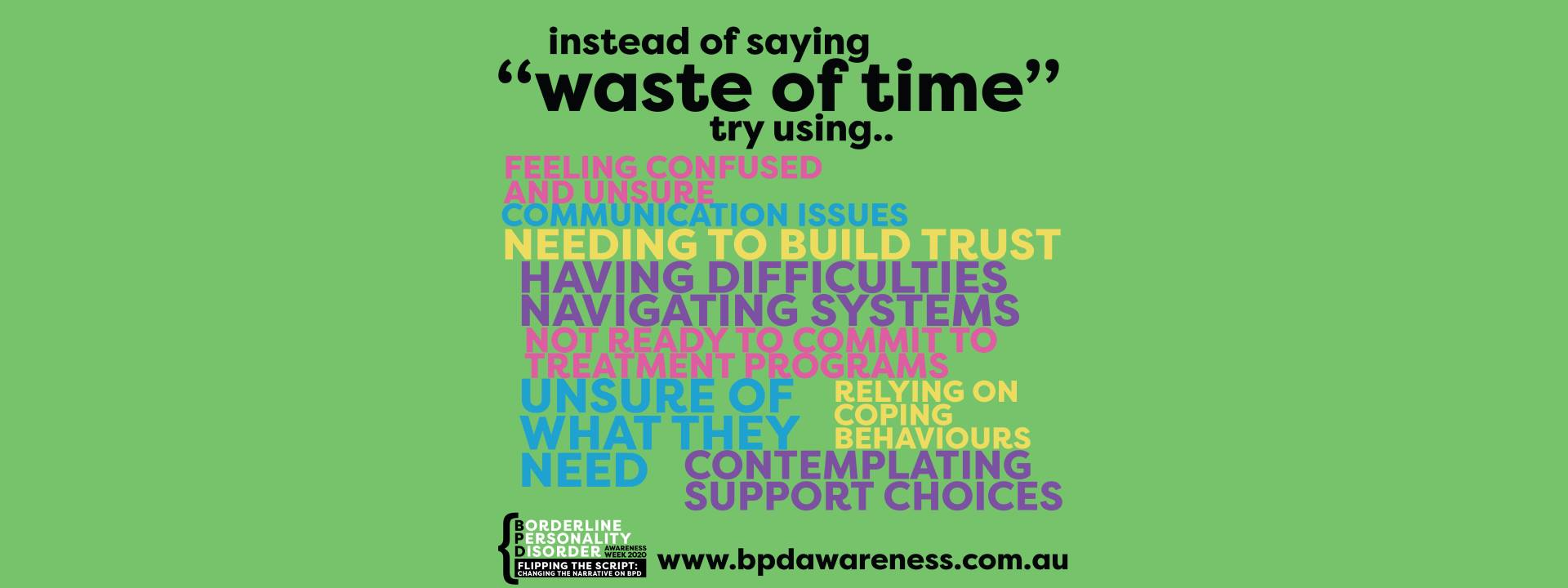 BPD Awareness Week - Not a Waste of Time