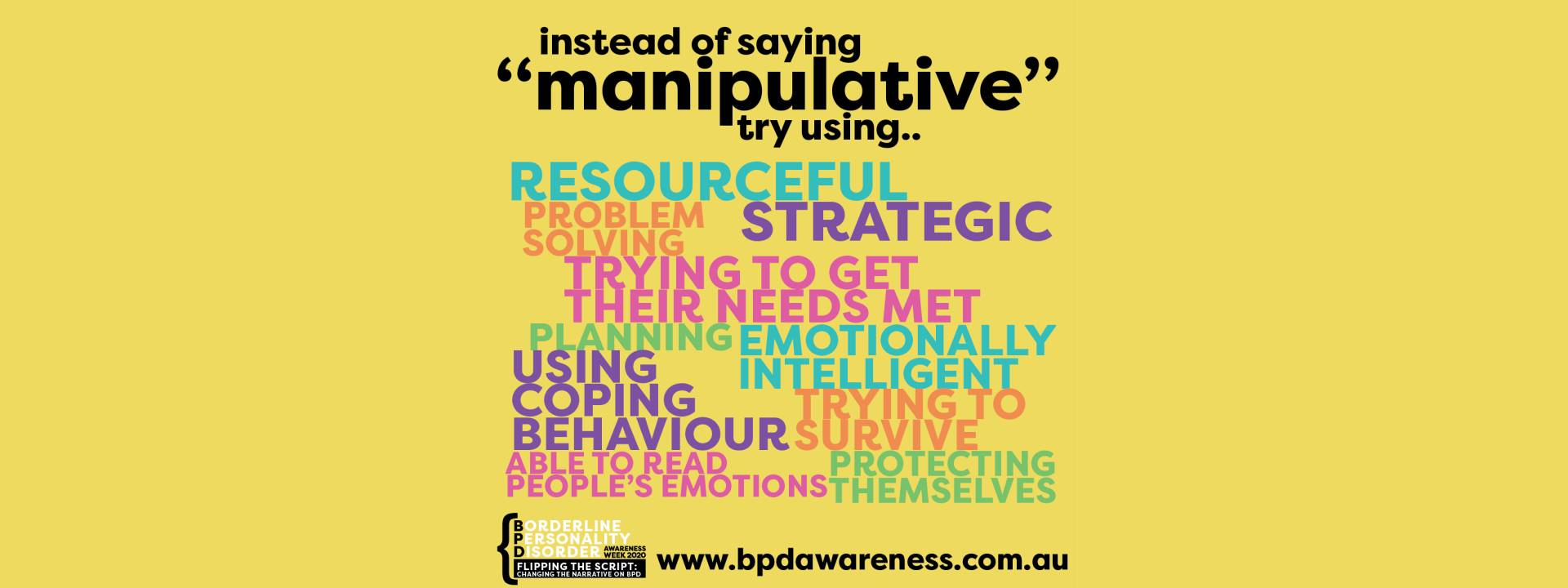 BPD Awareness Week - Not Manipulative